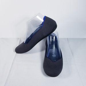 Rothy's Round Toe Flat Shoe Black 6.5/7